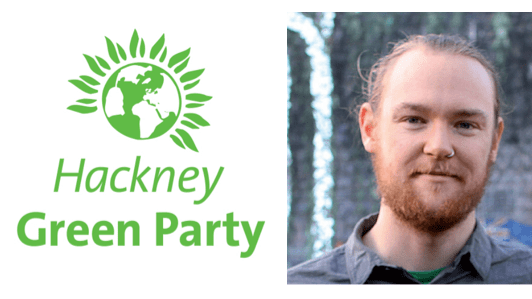 Alastair Binnie-Lubbock, Green Party mayoral candidate for Hackney. Pic: Hackney Green Party