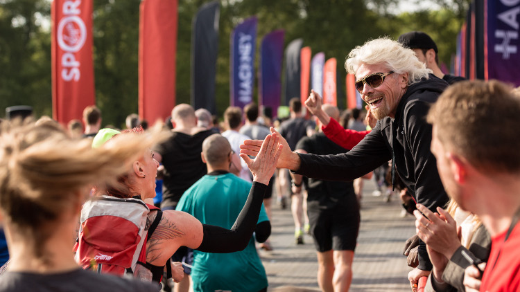 Richard Branson at the Hackney Half