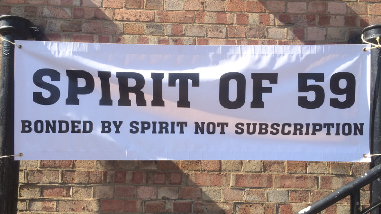 The Spirit of the 59 Club, a splinter group from the renowned '59 Club', hold a reunion.