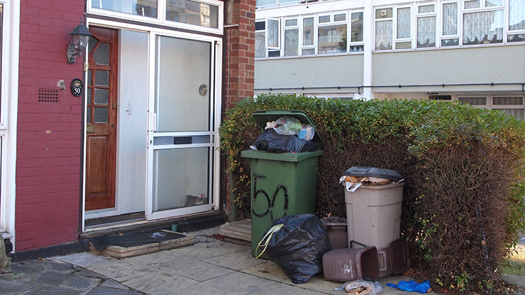 Waste services are under pressure across the borough