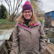 Ema Felix, 42, volunteer at the garden. Pic: Bertille Duthoit