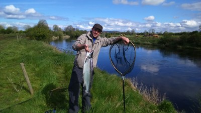 East Mayo Anglers Pierre Verchere France 12lb salmon Long Bank