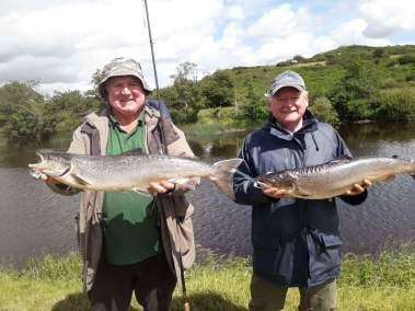 John O'Connor Foxford 12lb & Dan O'Driscoll Kerry 10lb both on the Worm on the Long Bank 20.6.18