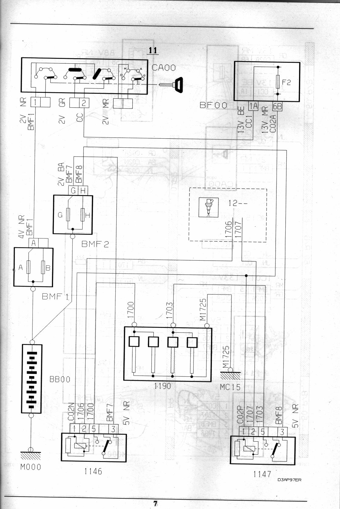 Electrical Wiring Citroen Xsara Electrical Wiring Diagram