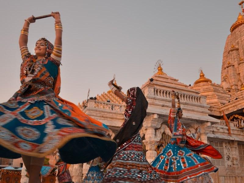 Navratri garba at Ambaji temple 2