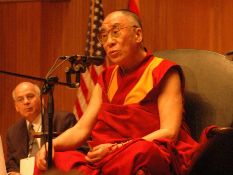 """"""" Even though our world has changed substantially since the time of Buddha, the essence of his teaching remains as relevant today as it was 2,600 years ago,"""" the Dalai Lama said."""