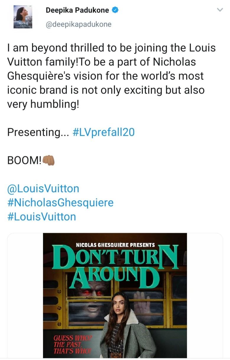 Deepika Padukone Louis Vuitton