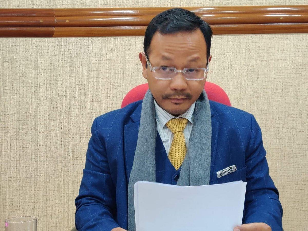 Meghalaya power minister James Sangma