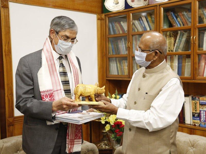 High Commissioner of Bangladesh to India Muhammad Imran Assam CM Sarbananda Sonowal governor Jagdish Mukhi