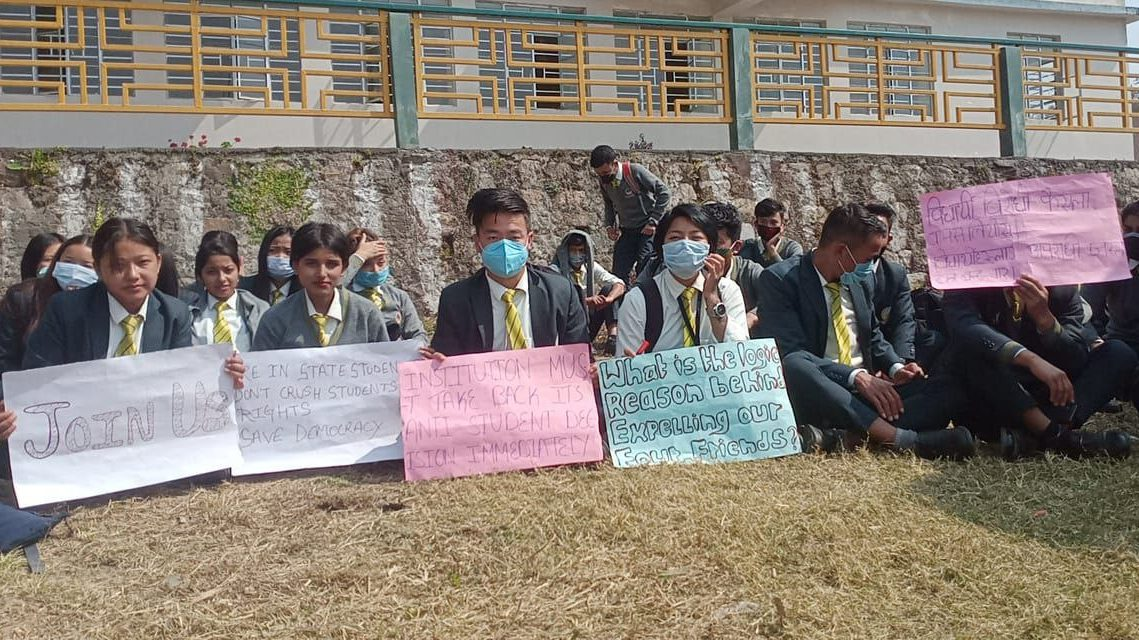Sikkim students protest