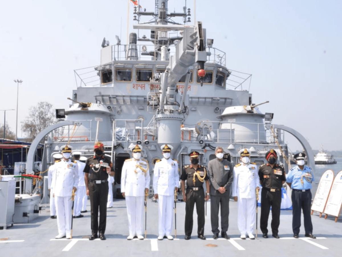 'Made in India' Naval Landing Craft Utility commissioned at Port Blair