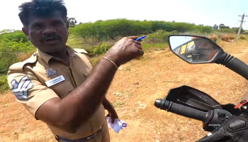 You won't believe why this Tamil Nadu cop stops a biker on the highway