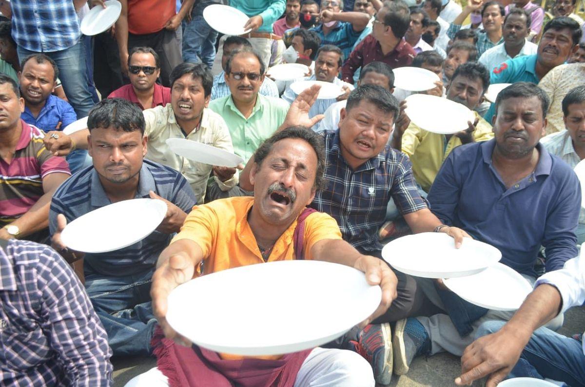tripura teachers protest