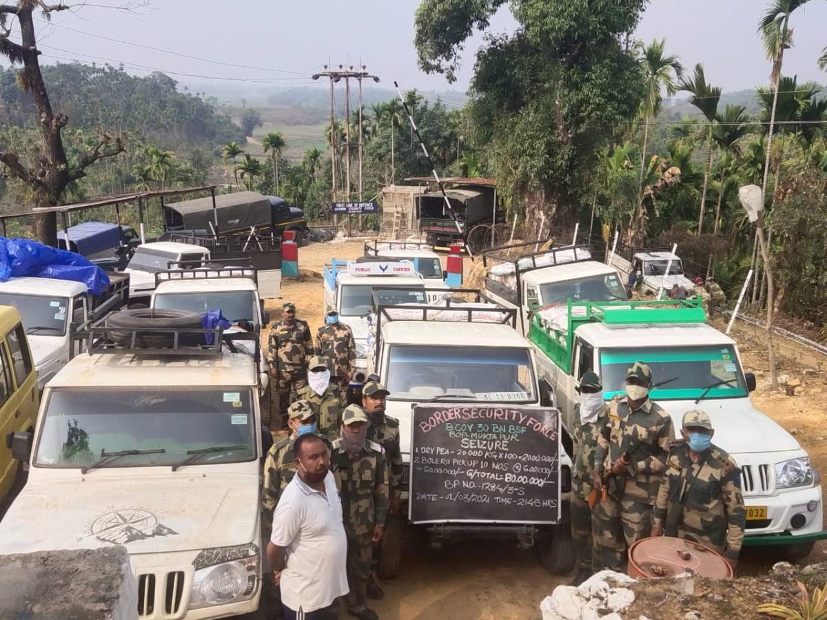 BSF smuggled dry peas Meghalaya