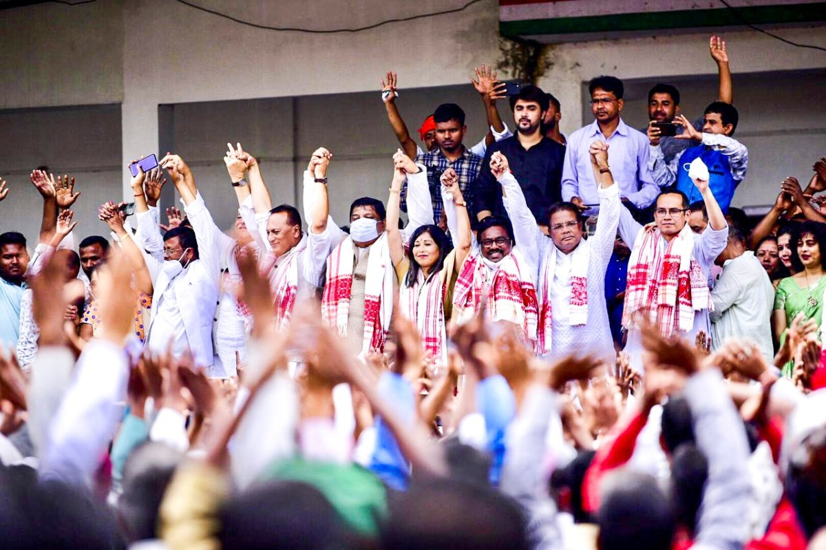 Assam 2021: Poll videos highlighting 5-guarantee campaign