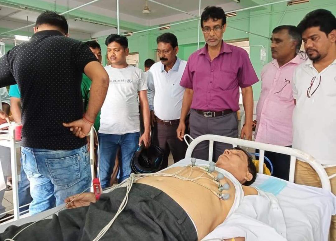 CPIM leader Badal Choudhury attacked by BJP workers
