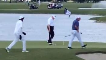 donald trump cheating golf