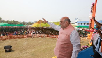 Amit Shah campaigns in West Bengal