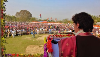 Vote for progress, golden future of Assam, says Priyanka Gandhi