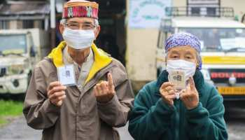 Voters after Sikkim municipal election