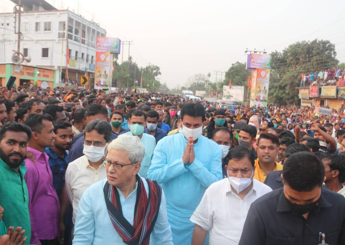 Yesterday, Tripura CM had tested positive for COVID-19