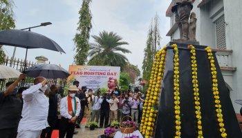 Manipur observes 77th Flag Hoisting Day at INA Moirang