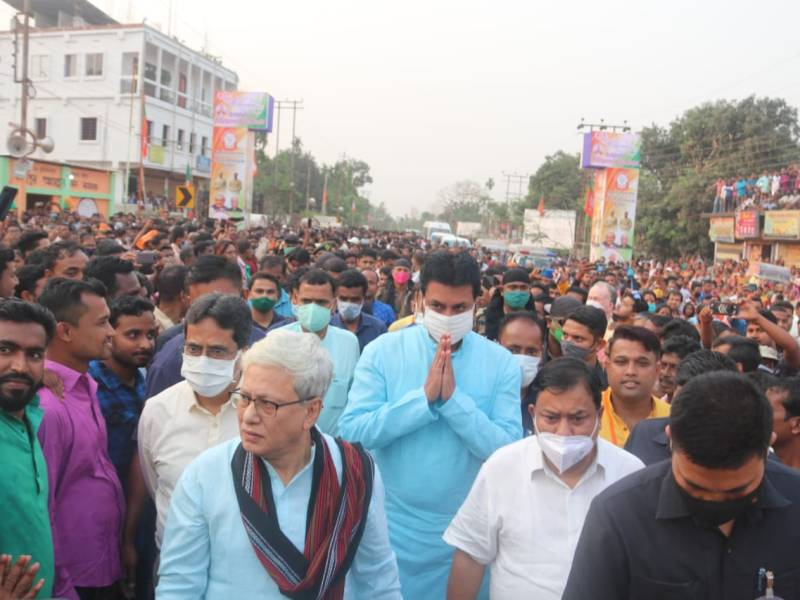 Tripura CM directs police to contain post-poll violence in TTAADC areas