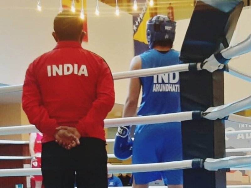 Indian boxer Arundhati Choudhary in Poland