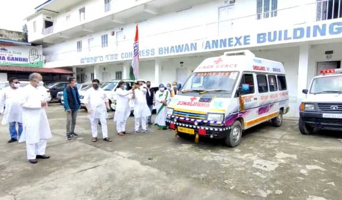 Rajiv Gandhi death anniversary: Manipur Congress dedicates ambulances, oxygen concentrators