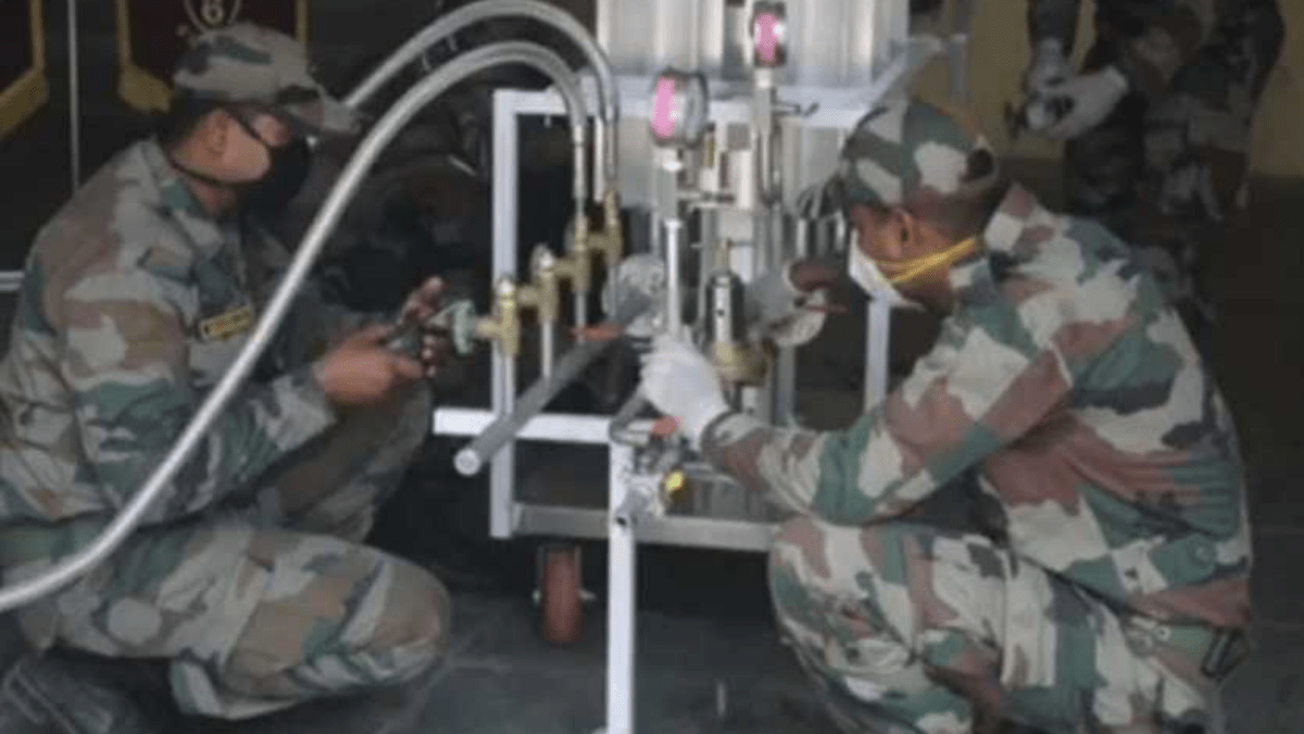 Indian Army innovates solution to convert liquid oxygen to gas for COVID-19 patients