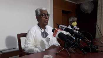 Opposition leader Manik Sarkar