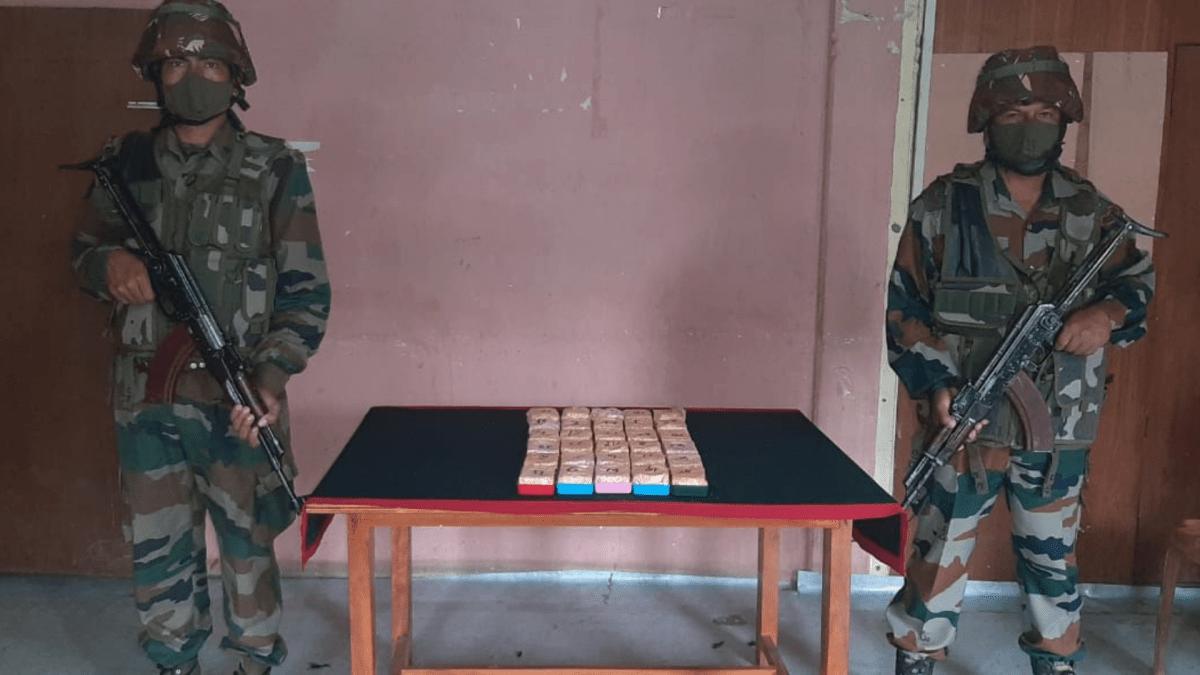 Assam Rifles and Customs dept seize heroin at Mizoram-Myanmar border