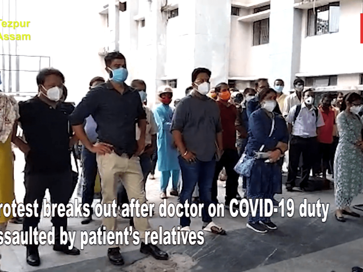 Assam: Protests break out after doctor on COVID-19 duty assaulted