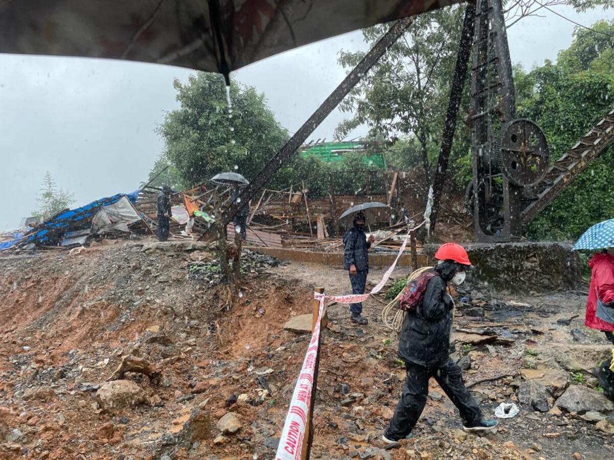 Water level in Meghalaya coal mine recedes by 22 feet