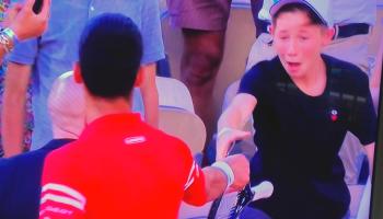 Watch: Novak Djokovic's heartwarming gesture leaves young fan overjoyed