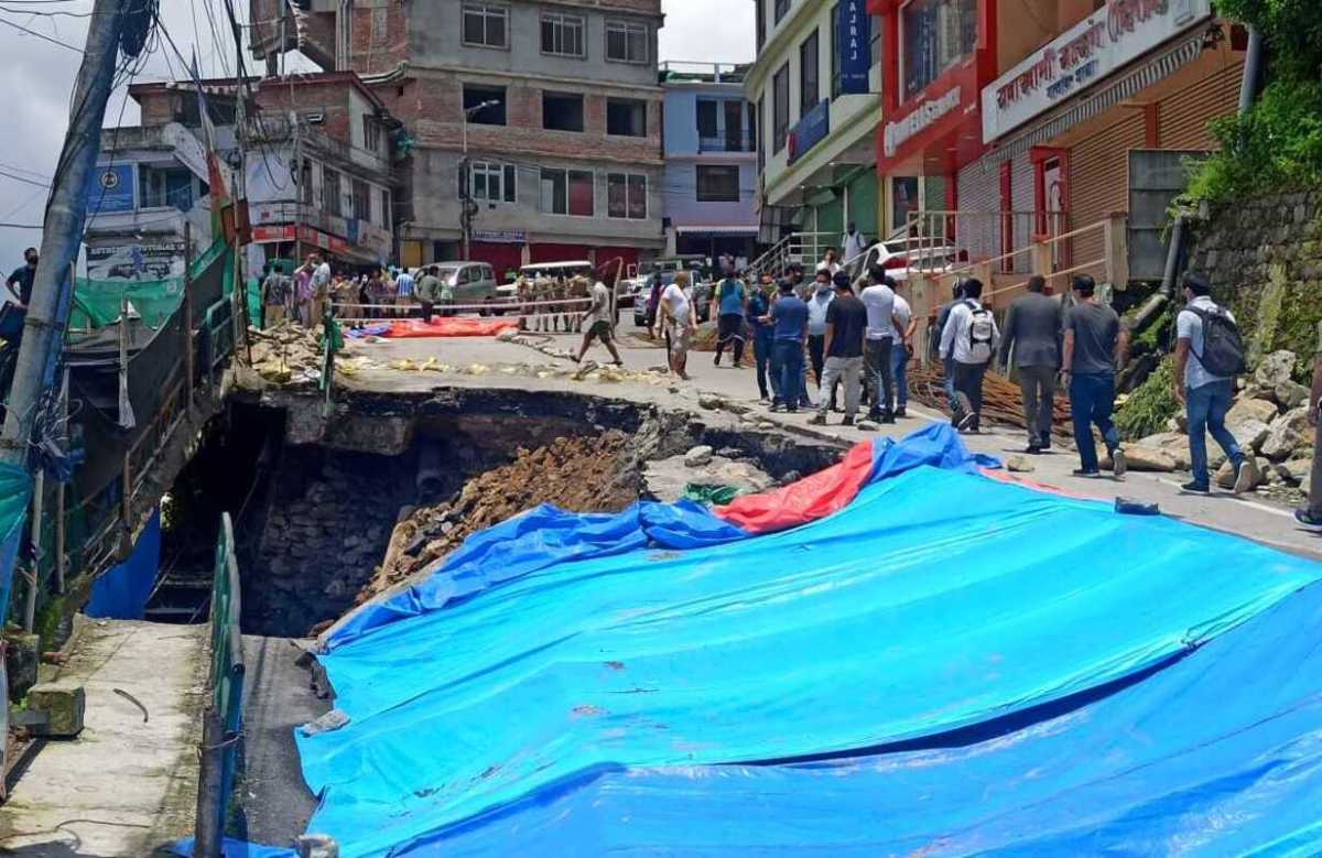 IN PHOTOS: NH-10 closed for a month in Gangtok after road caves in at Seesa Golai