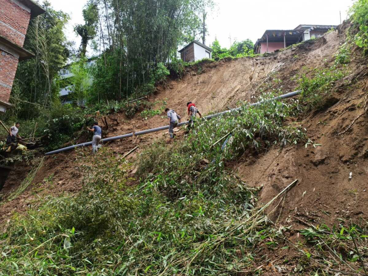 Sikkim: Landslides claim life of woman, damage road, property in Gangtok