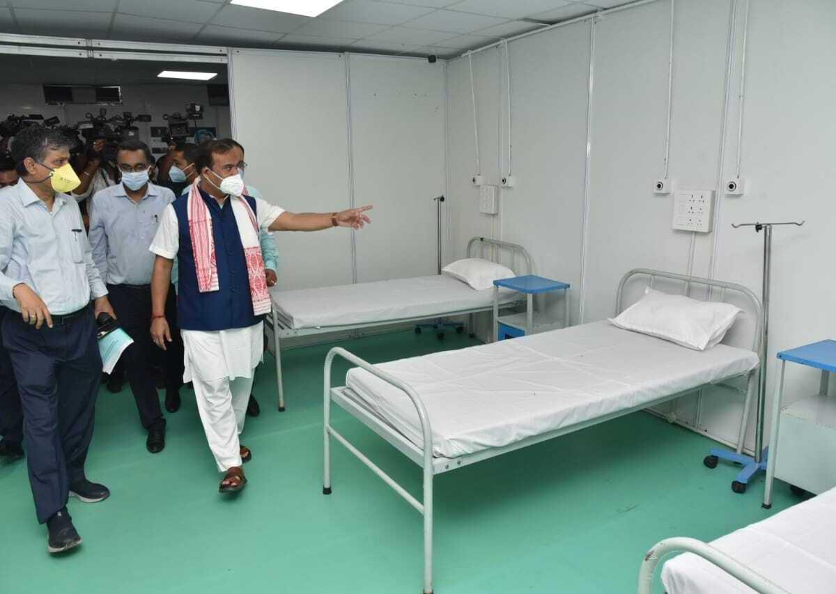 Assam: CM Sarma inaugurates 300 bedded Covid Care Hospital