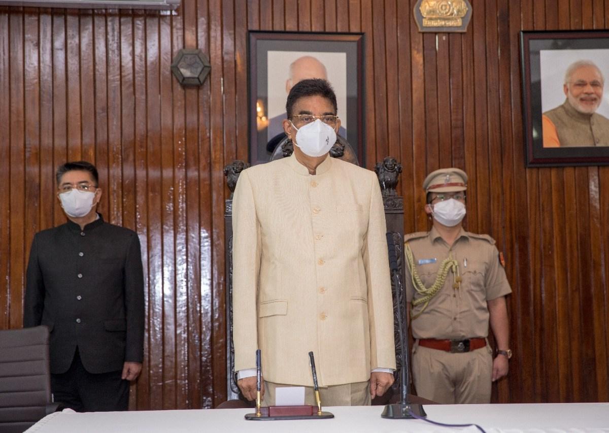 Kambhampati Hari Babu takes oath as new governor of Mizoram
