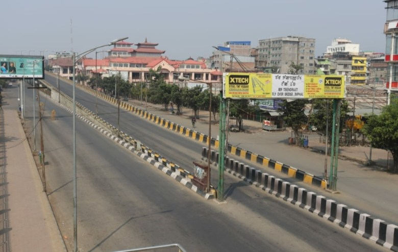 Streets of Imphal during lockdown