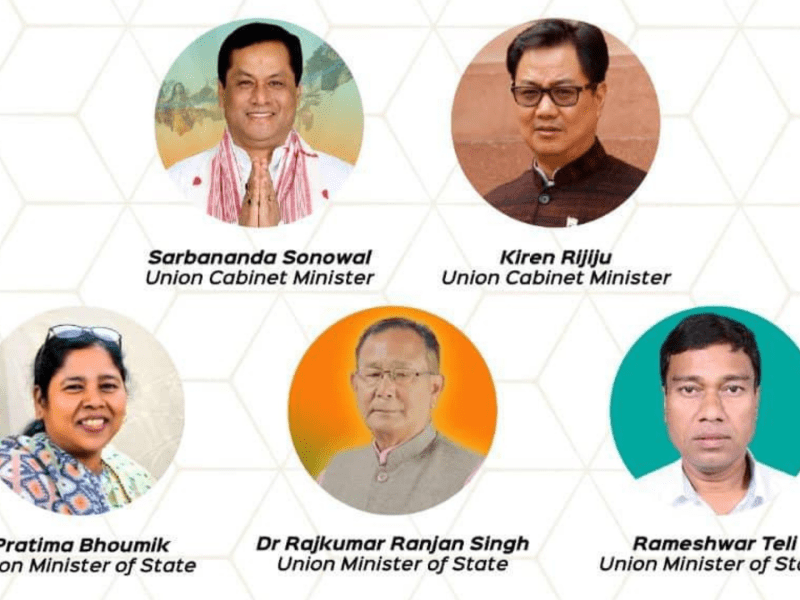 These are the portfolios of ministers from Northeast in Modi's Cabinet 2.0