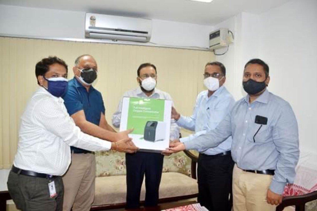 Oil India Limited donates 500 oxygen concentrators to Assam govt