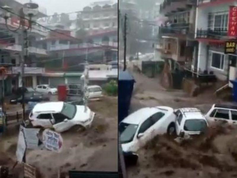Cloudburst floods Himachal's Dharmshala, causes panic among people