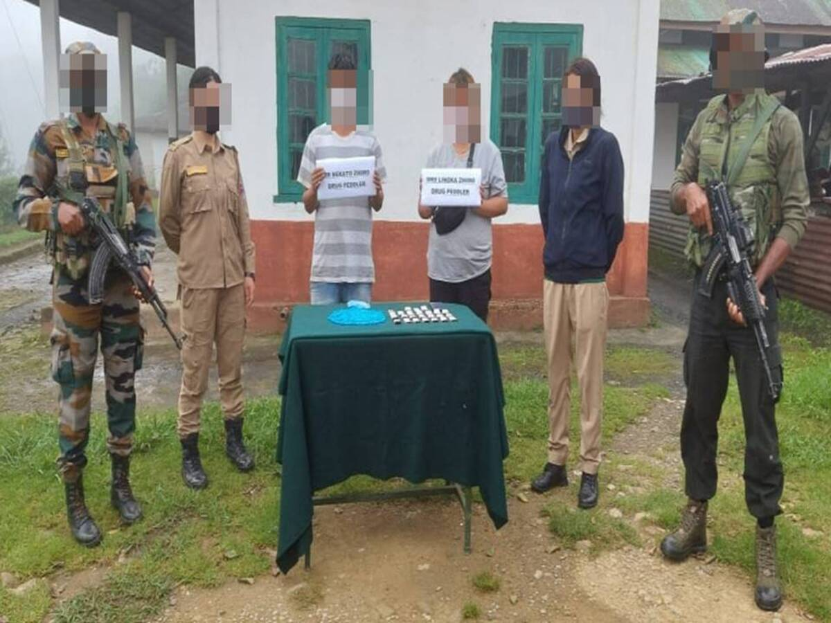 Nagaland: 2 drug peddlers, including woman, held in Zunheboto