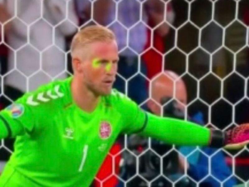 Fan shines laser on goalkeeper Kasper Schmeichel before Harry Kane penalty sparks controversy