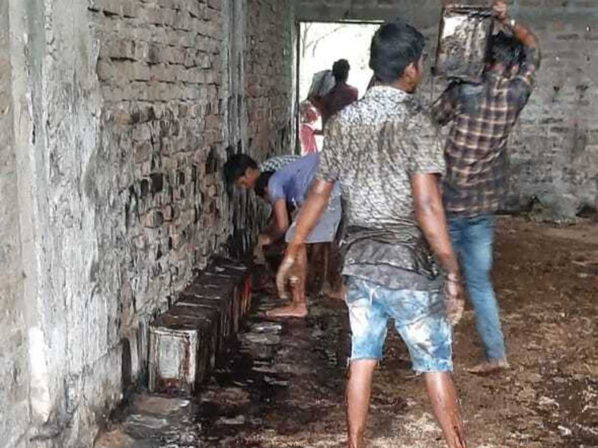 Assam: 2,500 containers of molasses stored for making illicit liquor destroyed