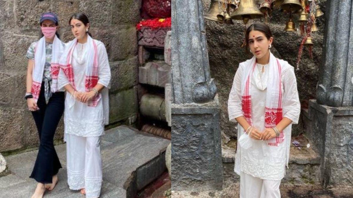 Sara Ali Khan visits Kamakhya Temple