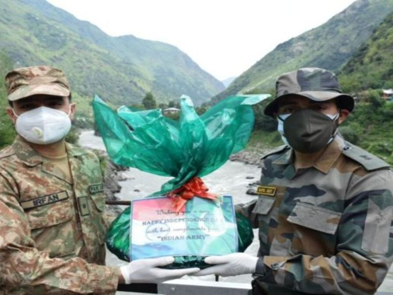 India, Pakistan troops exchange sweets along LoC on Pak's I-Day