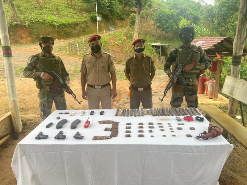 Mizoram: Huge cache of arms, ammunition seized near Myanmar border