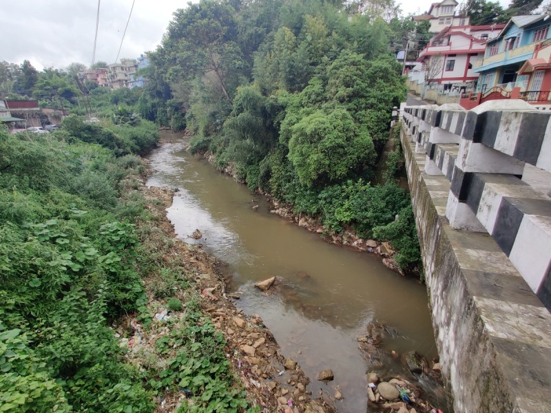 Umpohliew Bridge in Lawmali area of Shillong from where the sender of the letter claimed to have thrown the weapons snatched by the miscreants from Meghalaya police on August 15